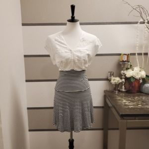 Free People Lace/Striped Dress. Size M.